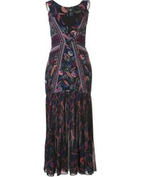 Anita Eden-print V-neck silk dress Emporio Sirenuse Buy Online New Clearance Geniue Stockist Clearance Largest Supplier Free Shipping Clearance Store Footlocker dijOUSa