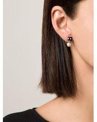 Nektar De Stagni - Pearl & Onyx Earrings - Lyst