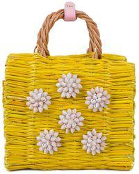 Heimat Atlantica - Celeste Mini Pink Basket Bag - Lyst