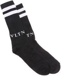 Valentino - Vltn Striped Socks - Lyst