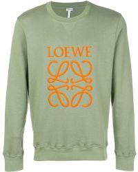 Loewe - Anagram Embroidered Sweatshirt - Lyst