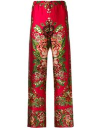 For Restless Sleepers - Silk Trousers - Lyst