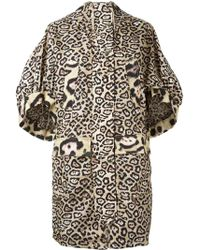 Givenchy - Oversize Leopard Print Coat - Lyst