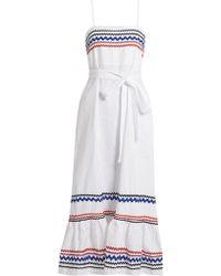 Lisa Marie Fernandez - Ric-rac Trimmed Linen Slip Dress - Lyst