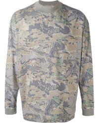 Yeezy - Camouflage Leaf Print Sweatshirt - Lyst