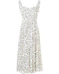 ALEXACHUNG - Flared Midi Dress - Lyst