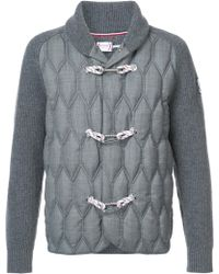 Moncler - Quilted Toggle Cardigan - Lyst