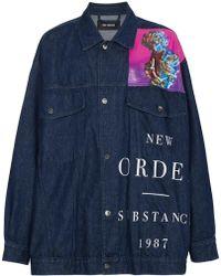 Raf Simons - X New Order Printed Denim Jacket - Lyst
