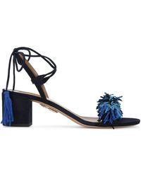 Aquazzura - Black & Blue 'wild Thing' Sandal - Lyst