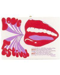 Olympia Le-Tan - Love Festival Printed Box Clutch - Lyst