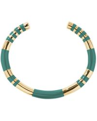 Aurelie Bidermann - Striped Cuff Bracelet - Lyst