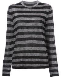 Alexander Wang | Crew Neck Striped Long Sleeve | Lyst