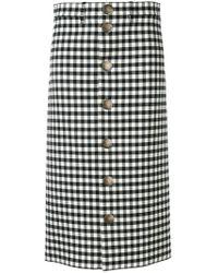 Balenciaga - Gingham Skirt - Lyst