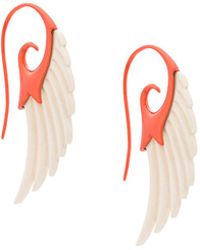 Noor Fares | Fly Me To The Moon Wing Earrings | Lyst