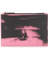 CALVIN KLEIN 205W39NYC - Calvin Klein X Andy Warhol Foundation Electric Chair Leather Pouch - Lyst