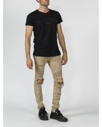 Balmain - Destroyed Effect Pants - Lyst