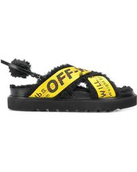 Off-White c/o Virgil Abloh - Black Industrial Belt Leather Sandals - Lyst