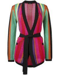 Balmain - Colorful Striped Crochet Jacket - Lyst