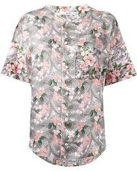 Julien David - Floral Print Shirt - Lyst