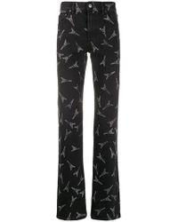 Balenciaga - Eiffel Tower Print Slim Jeans - Lyst