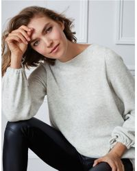 The White Company - Tie Sleeve Jumper With Cashmere - Lyst