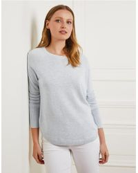 The White Company - Curved Hem Sweater - Lyst