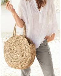 The White Company - Seagrass Circular Basket Bag - Lyst