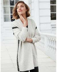 The White Company - Blanket Stitch Cardigan - Lyst