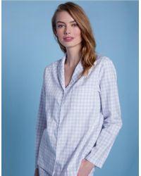 11b5a3c1144a6 Sleepy Jones Cotton Navy Gingham Marina Pajama Shirt in Blue - Lyst