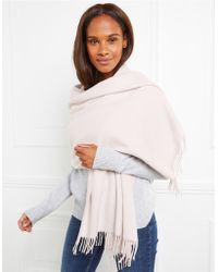 The White Company - Cashmere Woven Fringe Shawl - Lyst