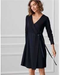 The White Company - Ponte Wrap Dress - Lyst