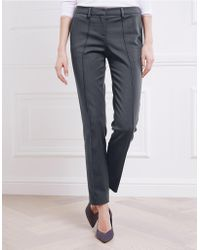 The White Company - Front Seam Oxford Pants - Lyst