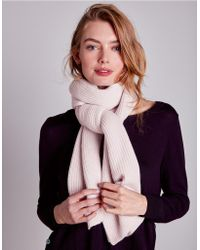 The White Company - Cashmere Loose Ribbed Scarf - Lyst