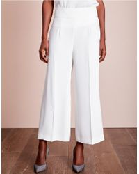 The White Company - Wide Leg Cropped Trousers - Lyst