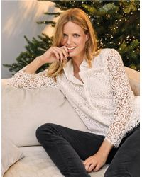 The White Company - Lace Shirt - Lyst
