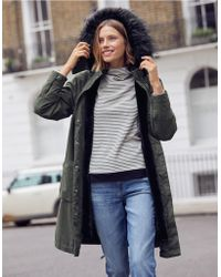 The White Company - Faux-fur Lined Parka Coat - Lyst