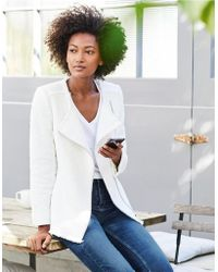 The White Company - Textured Biker Jacket - Lyst
