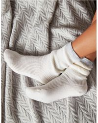 The White Company - Cashmere Tipped Bed Socks - Lyst