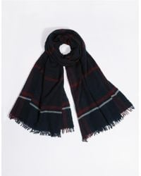 The White Company - Wool St Ives Check Scarf - Lyst