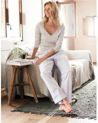 The White Company - Cotton Flannel Gingham Pyjama Bottoms - Lyst