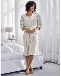 The White Company - Short Lightweight Velour Robe - Lyst