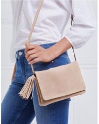 The White Company - Suede Organiser Tassel Bag - Lyst