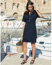 The White Company - Button Seam Detail Dress - Lyst