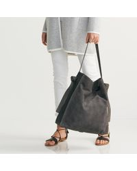 The White Company - Suede Shopper Bag - Lyst