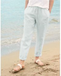 The White Company - Linen Beach Trousers - Lyst
