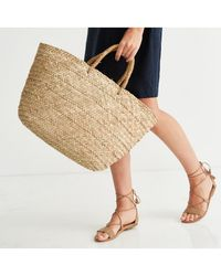 The White Company - Straw Basket Bag - Lyst