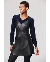 Veda Slip Leather Dress Black Lyst