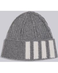 Thom Browne - Ribbed Cashmere Hat - Lyst 04a0f35b3d7c