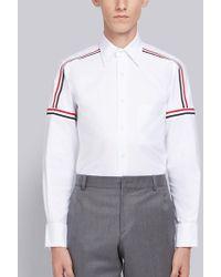 Thom Browne - Rwb Elastic Seam Oxford Shirt - Lyst