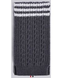 5ff3258f1d7 Lyst - Thom Browne Grey Mohair Norwegian Scarf in Gray for Men